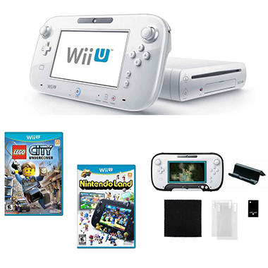 Wii U White with Lego City Undercover, Nintendo Land & Accessory Kit