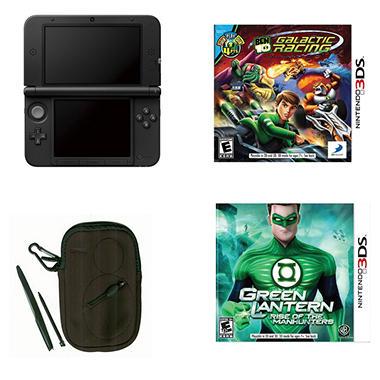 3DS XL Black with Ben 10 Galactic Racing & Green Lantern