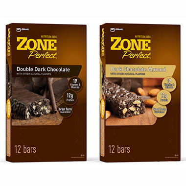 ZonePerfect Nutrition Bars, Dark - 1.58 oz. - 24 ct.