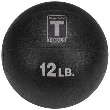 Body Solid Tools BSTMB12 12 lb. Black Med. Ball