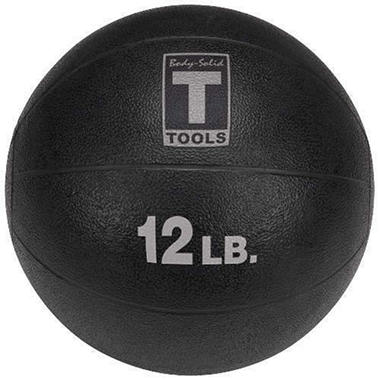 Body Solid Tools BSTMB12 12 lb. Black Med. Ball