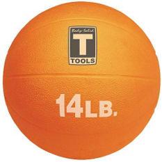 Body Solid Tools BSTMB14 14 lb. Orange Med. Ball