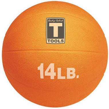 Body Solid Tools BSTMB14 14 lb. Orange Med. Ball