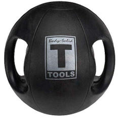 Body Solid Tools BSTDMB6 6lb. Dual Grip Med Ball
