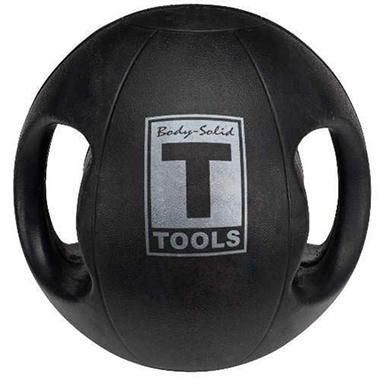 Body Solid Tools BSTDMB10 10lb. Dual Grip Med Ball