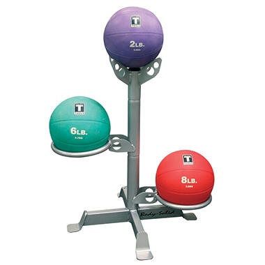 Body Solid Tools 3 Ball Medicine Rack