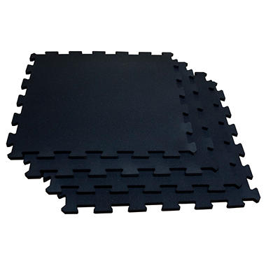 Body Solid Tools 4 Piece Puzzle Mat Set - Black