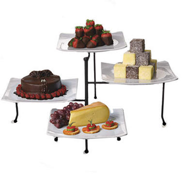 4 Tier Swivel Buffet Server