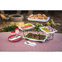 Gourmet Enameled 3-Tier Buffet Server