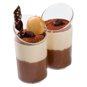 Galaxy Desserts Cappuccino Chocolate Mousse Duo (1.35 oz. cup, 96 ct.)