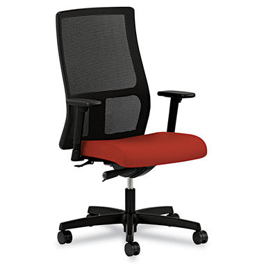 HON - Ignition Series Mesh Mid-Back Work Chair - Poppy Fabric Upholstered Seat