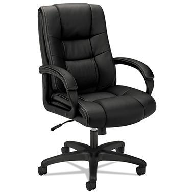 basyx by HON - VL131 Executive High-Back Chair, Black Vinyl
