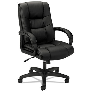 basyx by HON - VL131 Executive High-Back Chair, Black Vinyl