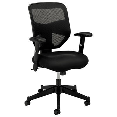 basyx by HON - VL531 High- Back Work Chair, Mesh Back, Padded Mesh Seat - Black