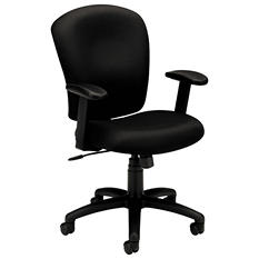 basyx VL220 Mid-Back Task Chair, Black