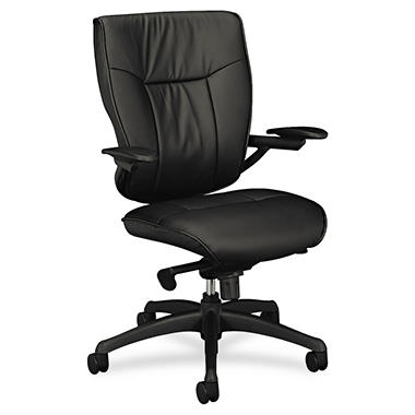 Basyx VL504 Mid-Back Leather Chair
