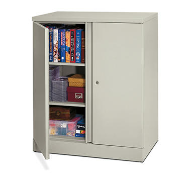 "basyx - Easy-to-Assemble Storage Cabinet, 18"" - Light Gray"