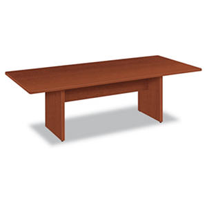 basyx BL Laminate Series 8' Rectangular Conference Table, Medium Cherry