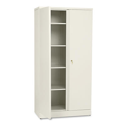 "basyx - Easy-to-Assemble Storage Cabinet, 18"" - Putty"