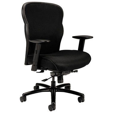 basyx by HON - VL705 Big & Tall Mesh Chair - Mesh Back/Fabric Seat, Black