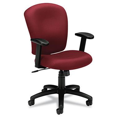 basyx by HON - VL220 Mid-Back Task Chair - Burgundy
