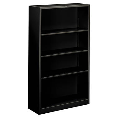 HON - Metal Bookcase, 4 Shelves - Various Colors