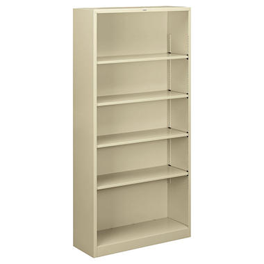 "HON 34 ½"" 5-Shelf Steel Bookcase, Select Color"