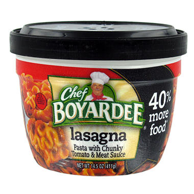 Chef Boyardee Big Micro Lasagna - 14.5 oz. Cup - 12 ct.