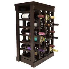 El Mar Furnishings Classic Wood Wine Rack