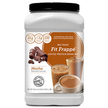 Big Train Fit Frapp� Coffee Protein Drink Mix - Mocha - 36.2 oz.