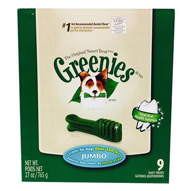 Greenies Dental Dog Chews - Jumbo - 9 ct.