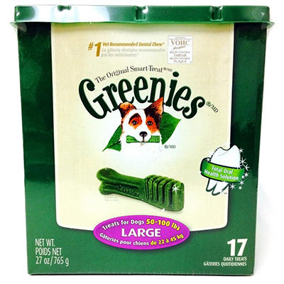 Greenies Dental Dog Chews - Large - 17 ct.