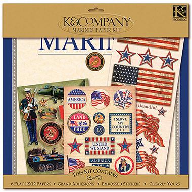 Military Scrap Kit 12x12-Marines