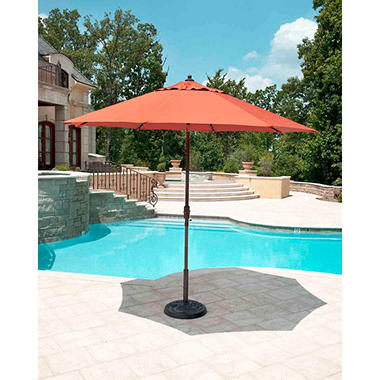 10' Market Umbrella - Canvas Rust