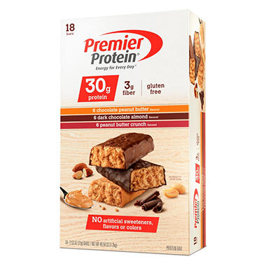 Premier Protein® Bar Variety Pack - 2.5 oz. - 18 ct.