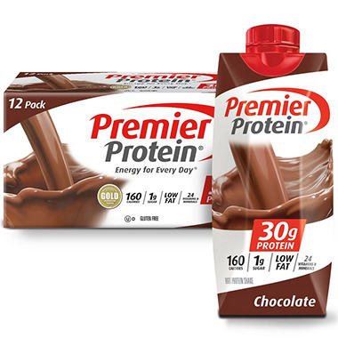 Premier Protein High Protein Shake, Chocolate (11 fl. oz., 12 pack)