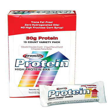 Premier Protein� Bar Variety Pack - 15/2.5 oz.