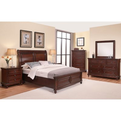 Braden white king size 5 piece bedroom set dealepic for Bedroom set deals