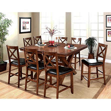Charleston Counter-Height Dining Table and Chairs, 9-Piece Set