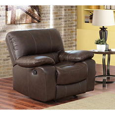Riley Top-Grain Leather Recliner