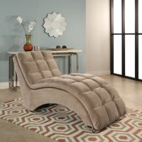 Abbyson Living Alexis Fabric Chaise (Beige)