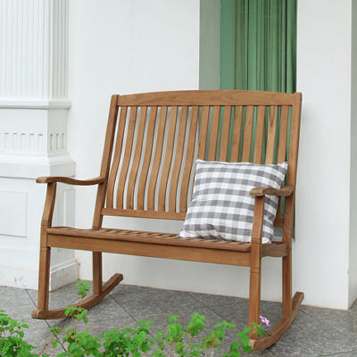 Teak Loveseat Rocker