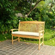"4' Teak Bench with 2"" Pad"