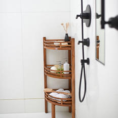 Spa Teak Corner Shelf