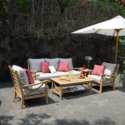 Teak Sofa Set 5 pc.
