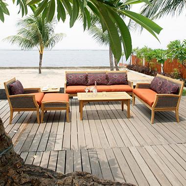 Wicker Back Sofa Set