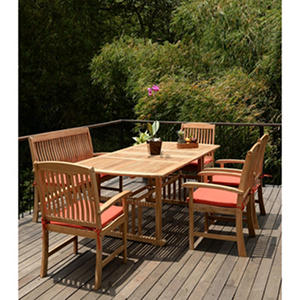 Extendable Teak Wood Dining Set - 6 pc.