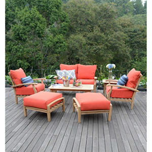 Teak Outdoor 7-Pc. Patio Seating Set with Choice of Cushion Color
