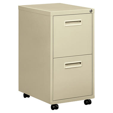 "basyx by HON -Embark Series File/File Pedestal File w/2 ""M"" Pull Drawers, 22""D - Putty"