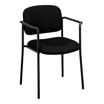 basyx by HON - VL616 Stacking Guest Chair with Arms - Black